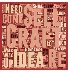 How to sell your crafts text background wordcloud vector