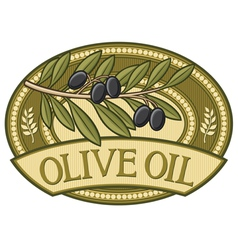 Olive oil label vector