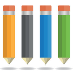 Four pencils vector