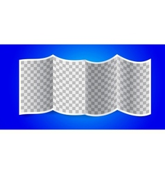 Folded transparency paper on blue background vector image
