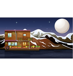 A beautiful wooden boathouse vector image