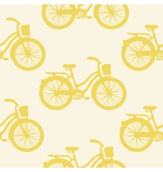 Seamless pattern with colorful vintage bicycles vector image