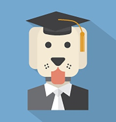 Dog with mortarboard pedigree concept vector