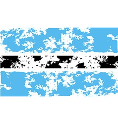 Flag of botswana with old texture vector