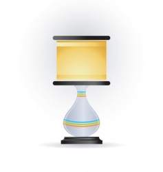 Lamp icon vector