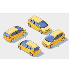 Isometric car 1 vector image