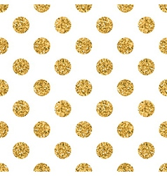 Polka dot big gold white 1 vector