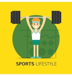 Gym bodybuilding concept design flat vector