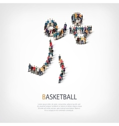 People sports basketball vector