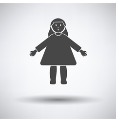 Doll toy icon vector