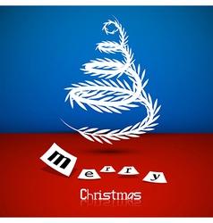 Abstract Christmas tree theme Merry Christmas vector image vector image