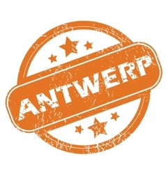 Antwerp round stamp vector