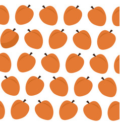 Apricot fruit food fresh seamless pattern image vector