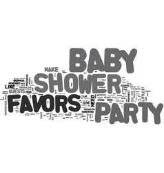 Baby shower party favor text word cloud concept vector