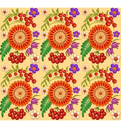 Background painted with flowers and berries vector