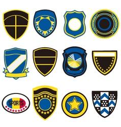 Badge icon symbol set vector