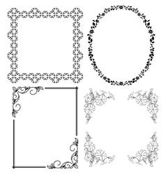 black decorative frames - set vector image vector image