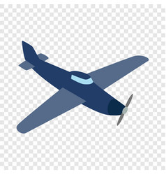 blue plane isometric icon vector image vector image