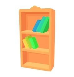 Bookcase icon cartoon style vector