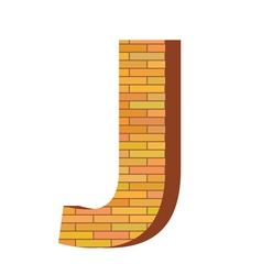 brick letter J vector image vector image