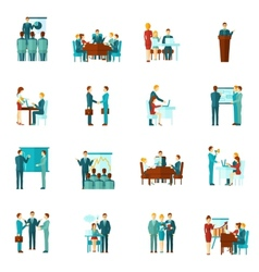 Business Training Flat Icons vector image