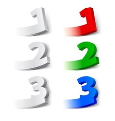 Choice numbers vector image vector image