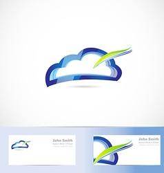 Cloud computing storage logo vector