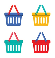 Colorful Shopping Basket vector image