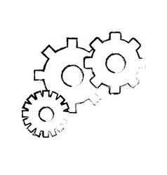 Contour gears symbol process industry vector
