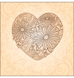 cute Valentine's day card vector image vector image
