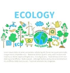 Doodles Ecology Set vector image