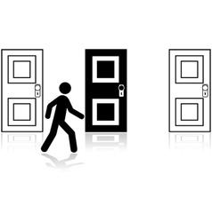 Door choice vector