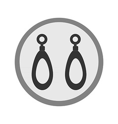 Earrings vector image