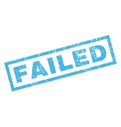 Failed rubber stamp vector