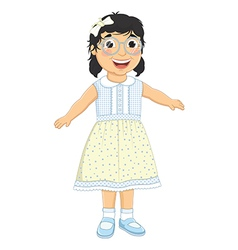 Girl Laughing vector image