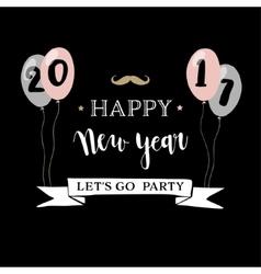 Happy new year 2017 greeting card invitation vector