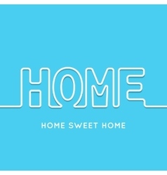 Home icon with shadow in blue background vector image