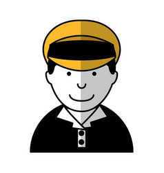Man taxi driver avatar vector