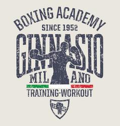 Milan gymnasium boxing academy vector