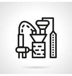Processing crops factory line icon vector image vector image