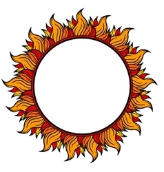 Ring of fire circular frame isolated on white vector