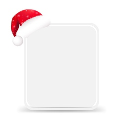 Santa hat with blank gift tag vector