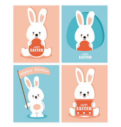 set four easter greeting cards vector image
