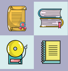 set school tools to learn and teach vector image vector image