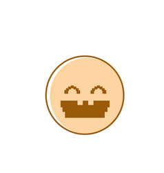 smiling cartoon face laughing positive people vector image