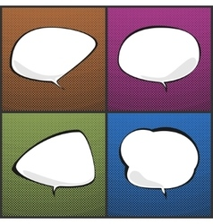 Speech bubbles on pop art background vector