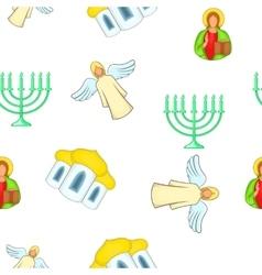 Spirituality pattern cartoon style vector