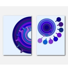 Template page design presentations leaflets vector image