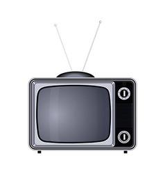 Tv set retro old vintage device vector