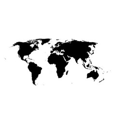 world map isolated high vector image vector image